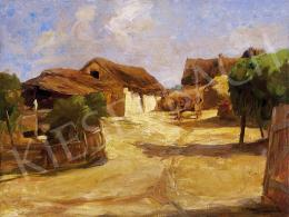 Tornyai János - Parasztudvar déli napsütésben