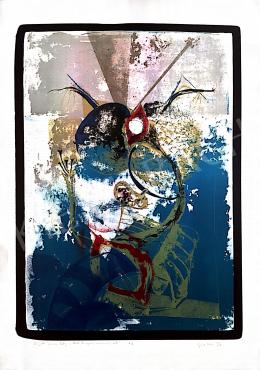 Ismeretlen művész olvashatatlan szignóval - The 2nd Tubular Lady in that dangerous swimming-pool, 1993