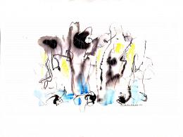 Michel Gaudet - Színes kompozíció, 1984