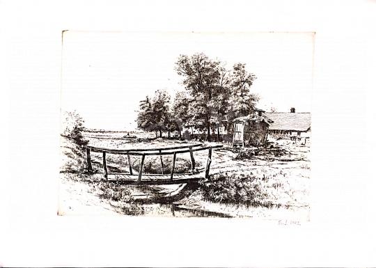 Eladó Boldizsár Iván - Táj, híddal festménye
