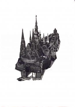 Ismeretlen művész Luka szignóval - Prága látképe