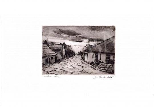 Eladó ifj. Iván Szilárd - Falusi utak festménye