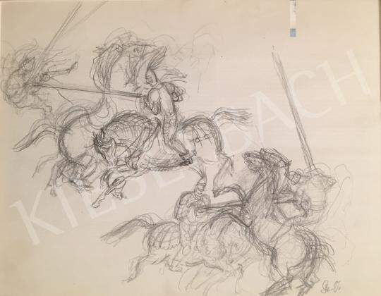 Eladó  Szabó Vladimir - Lovagok festménye