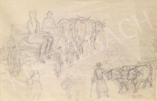 Eladó  Szabó Vladimir - Szénásszekér festménye