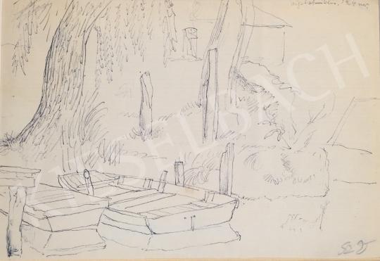 Eladó  Szabó Vladimir - Csónakok festménye