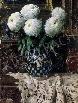 Pentelei Molnár, János - Still life with chrysanthemums