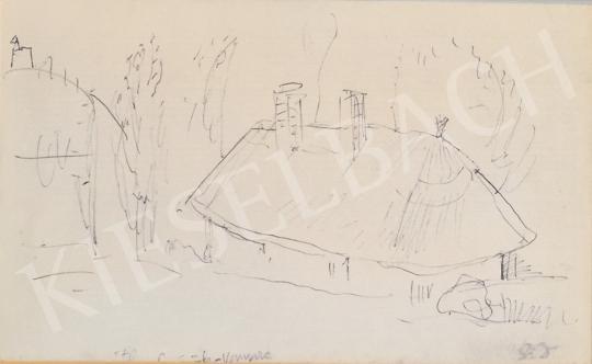 Eladó  Szabó Vladimir - Útban Györök-Vonyarc festménye