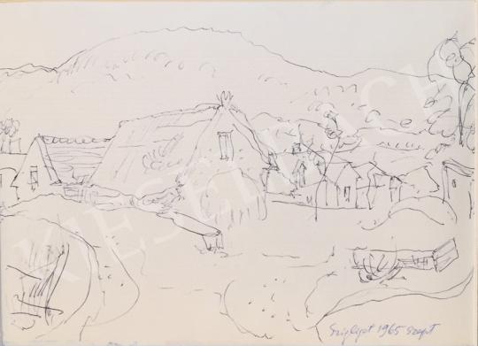 Szabó Vladimir - Szigliget festménye
