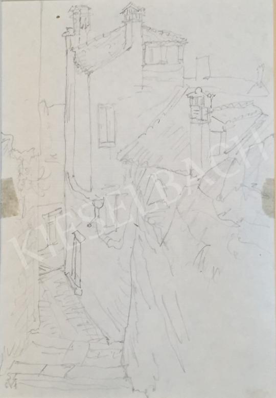 Eladó  Szabó Vladimir - Sikátor festménye