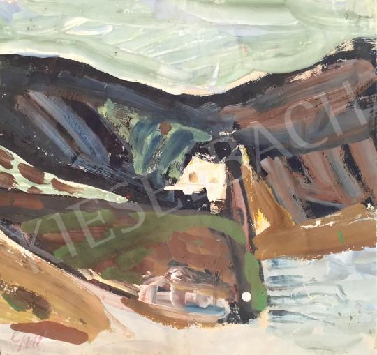 Eladó  Gaál Imre Péter - Ház a domboldalban festménye