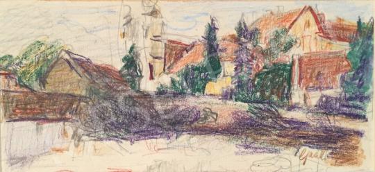 For sale  Gaál, Imre - Vilage Detail 's painting