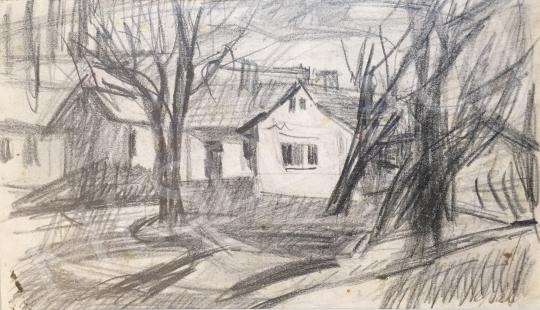 Eladó  Gaál Imre Péter - Falusi házak festménye