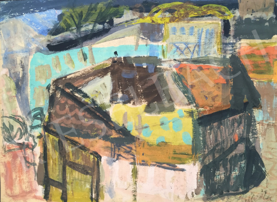 Eladó  Gaál Imre Péter - Háztetők, 1968 festménye