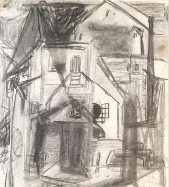 Eladó  Gaál Imre Péter - Házak festménye