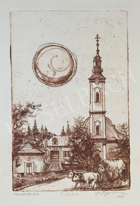 Eladó  Szilágyi Imre - Peneszlek, 1988 festménye