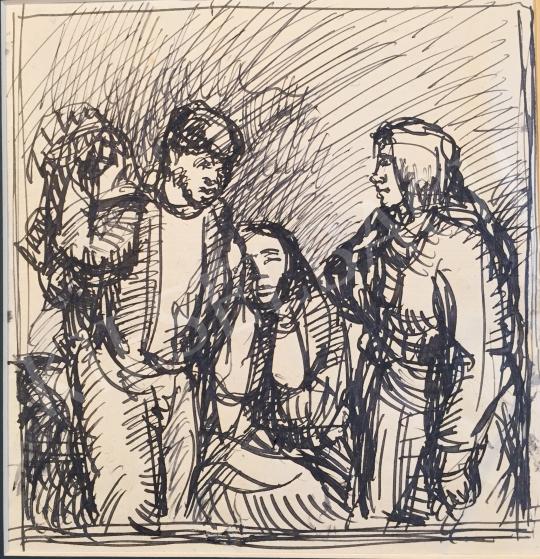 Eladó Mizser Pál - Parasztok festménye