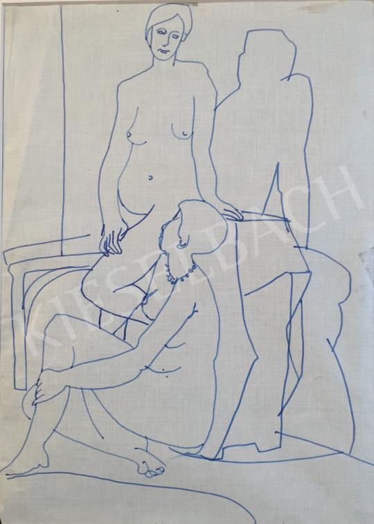 Eladó  Mizser Pál - Női aktok festménye