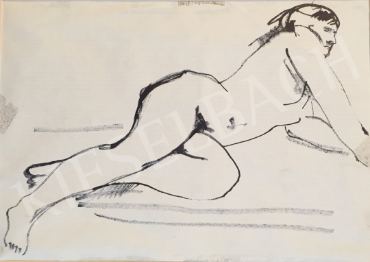 For sale Mizser, Pál - Lying Female Nude 's painting