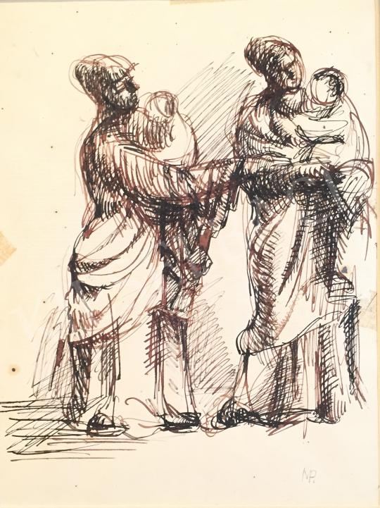 Eladó  Mizser Pál - Dajkák festménye