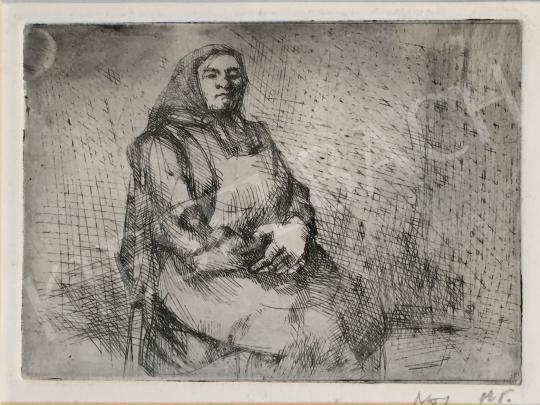 Eladó  Mizser Pál - Idős nő festménye