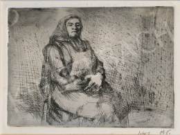 Mizser Pál - Idős nő