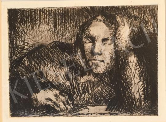 Eladó  Mizser Pál - Idős női portré festménye