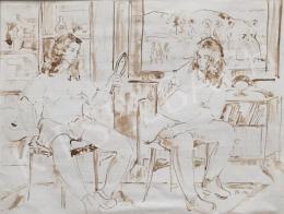 Dániel Kornél Miklós - Készülődő lányok, 1992