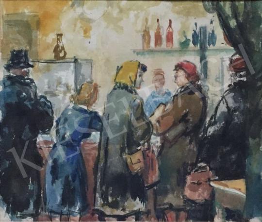 Eladó Bod László - Boltban festménye