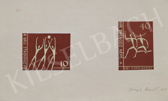 For sale Végh, Dezső - Stamp Plan III., 1961 's painting