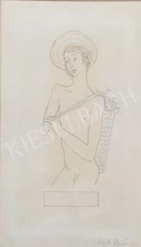 Eladó Végh Dezső - Szőlőputtonyos akt, 1961 festménye