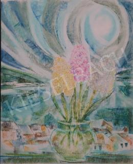 Dániel, Kornél Miklós (Fisch Kornél) - Flower Still-Life, 1993