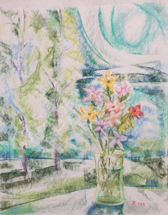 Eladó Dániel Kornél Miklós - Virágcsendélet, 1994 festménye