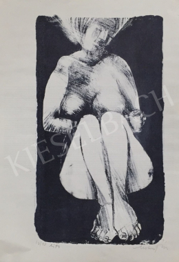 Molnár Dénes - Ülő női akt