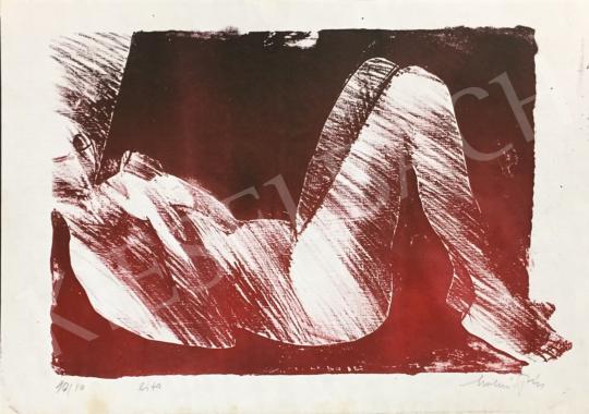 Eladó Molnár Dénes - Fekvő női akt festménye