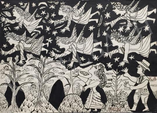 Eladó Kiss Anna - Erdőtündérek, 1978 festménye
