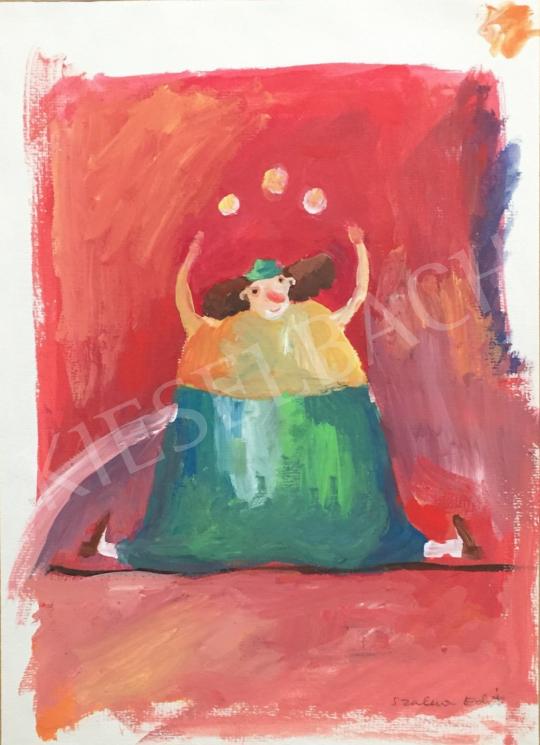 Eladó Szalma Edit - Cirkuszi bohóc festménye