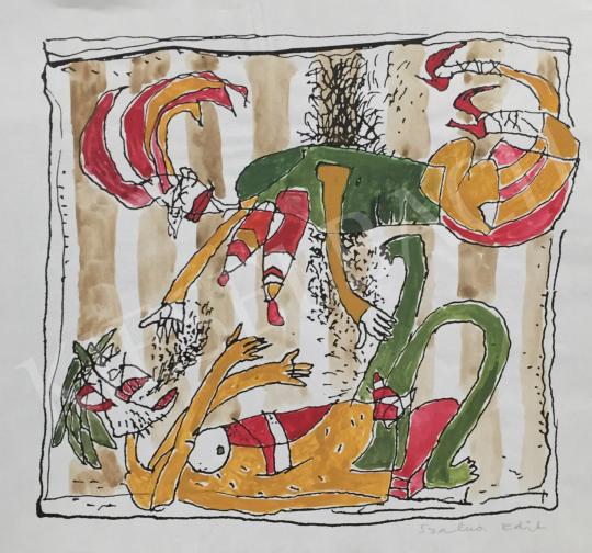 For sale  Szalma, Edit - Acrobats 's painting