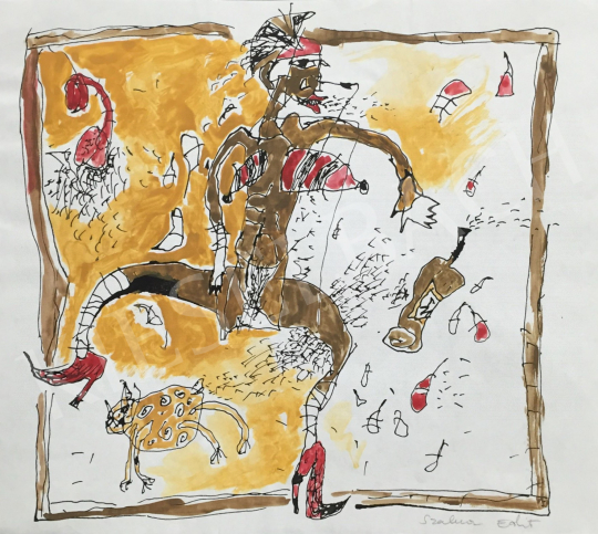 Eladó Szalma Edit - Cirkuszban  festménye