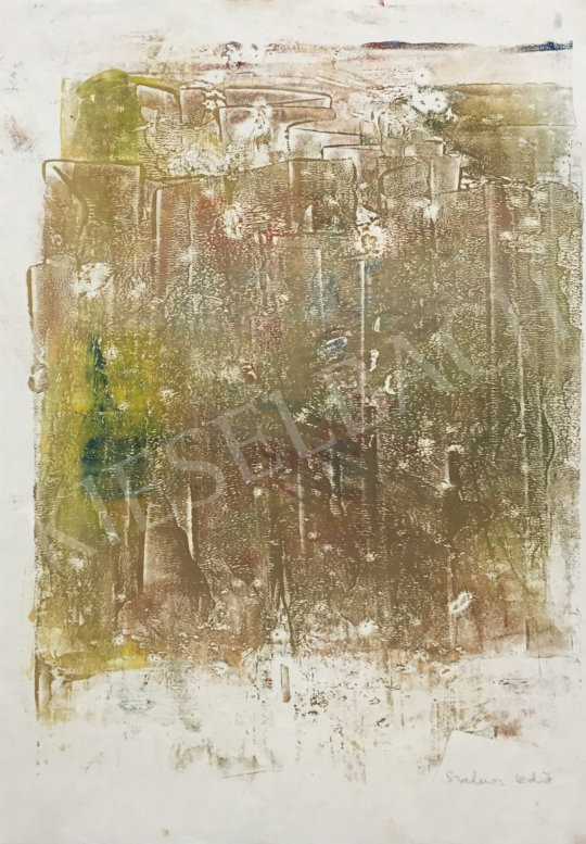 For sale  Szalma, Edit - Green Composition 's painting