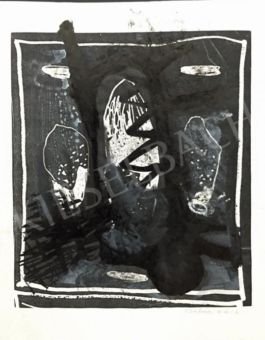 Eladó  Szalma Edit - Fekete kompozíció festménye