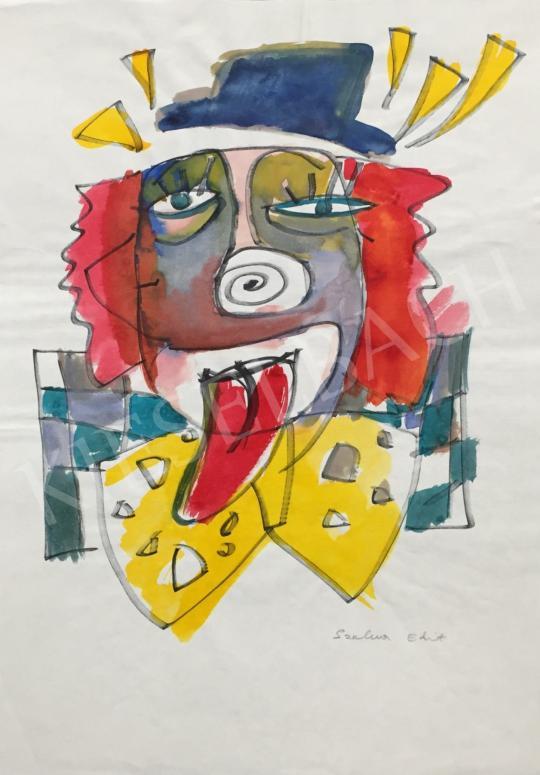 Eladó  Szalma Edit - Szomorú bohóc festménye