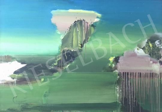 Kokas Ignác - Zöld kép, elsüllyedt város festménye