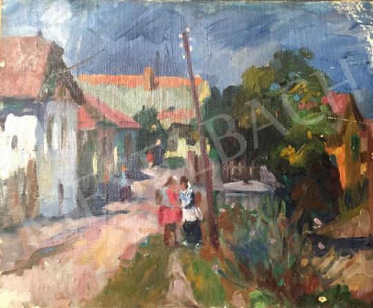 For sale  Szecsődi, Klára (Claire) - Village, circa 1950 's painting