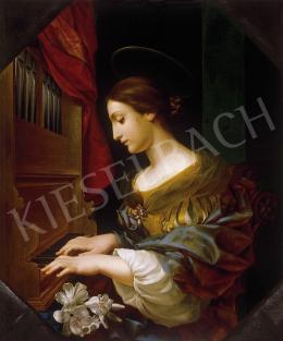 19. századi másolat Carlo Dolci képéről - Szent Cecília orgonál