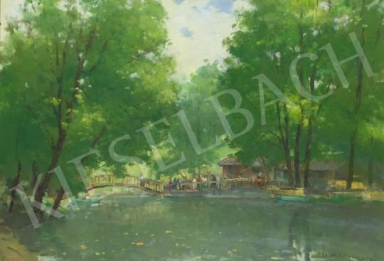 For sale Halasi Horváth, István (Horváth István) - Lake at Tapolca, 1983 's painting
