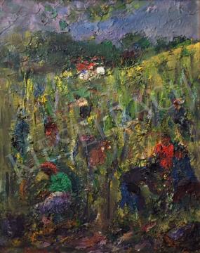 Bényi László - Szüret festménye