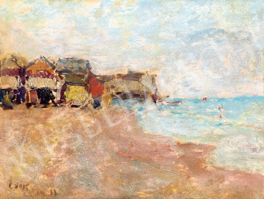 Csók, István - Houses on the Lido, 1912 painting