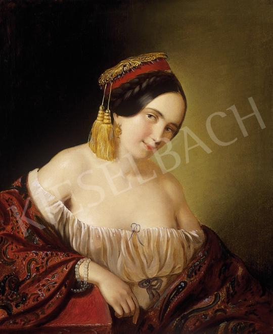 Ismeretlen festő - Görög hölgy   7. Aukció aukció / 128 tétel