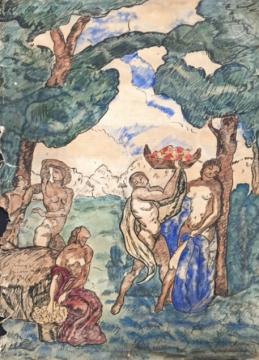 Eladó  Iványi Grünwald Béla - Tavaszünnep festménye