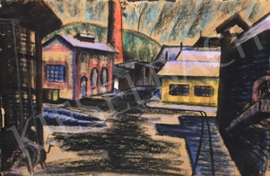 Eladó Ismeretlen magyar művész - Városi látkép festménye